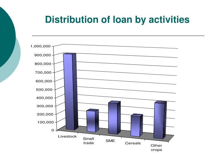 Distribution of loan by activities