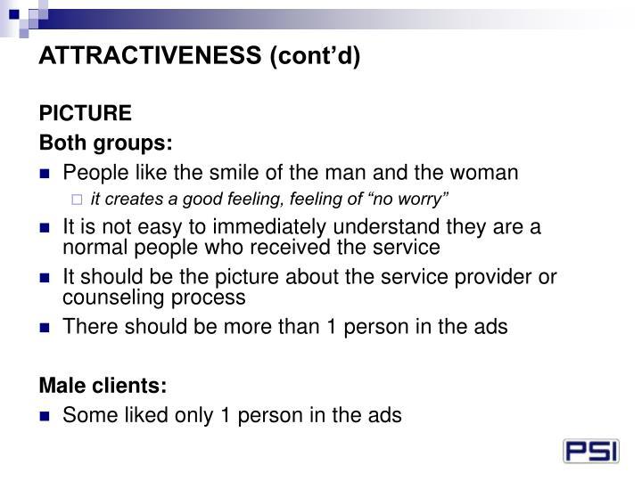 ATTRACTIVENESS (cont'd)