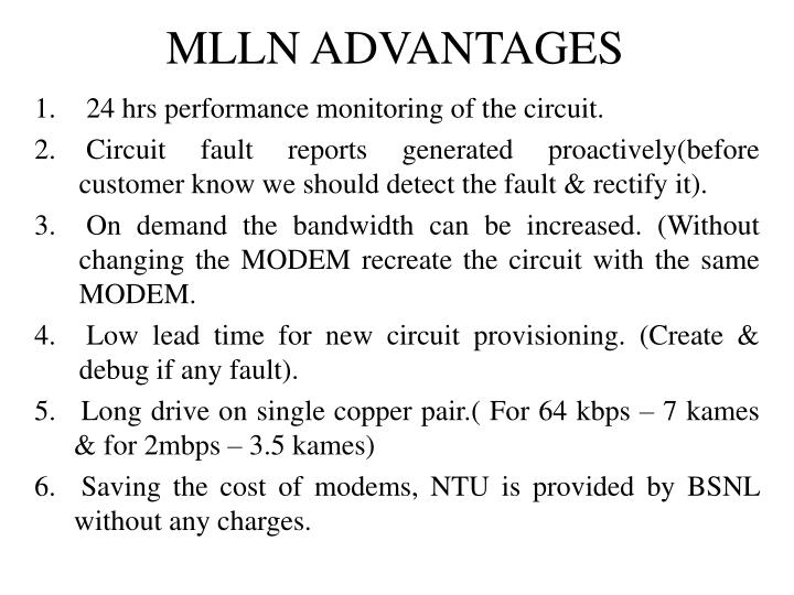 MLLN ADVANTAGES