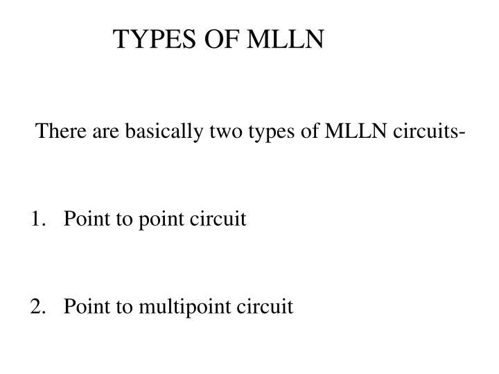 TYPES OF MLLN