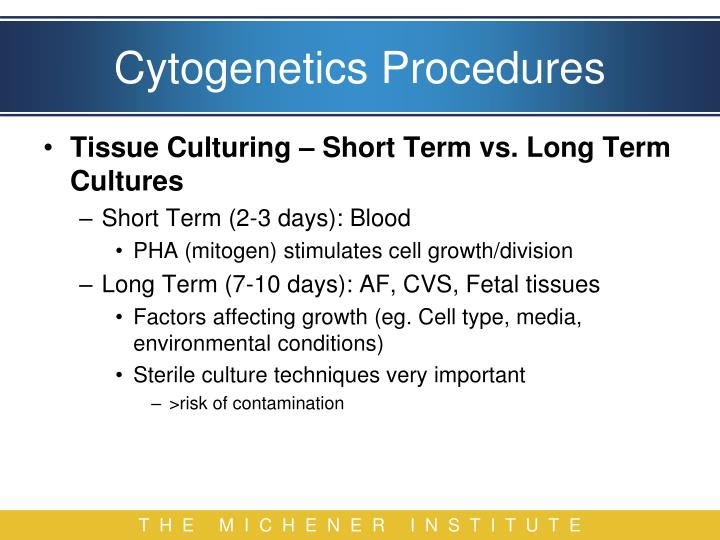 Cytogenetics Procedures