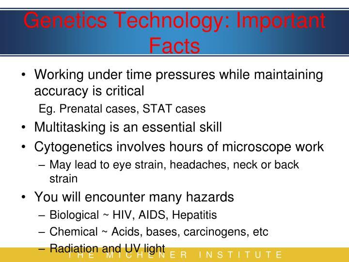 Genetics Technology: Important Facts