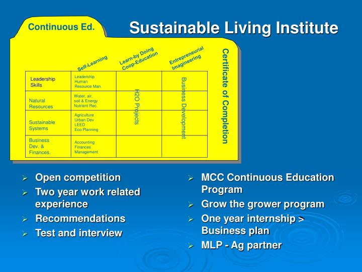 MCC Continuous Education Program