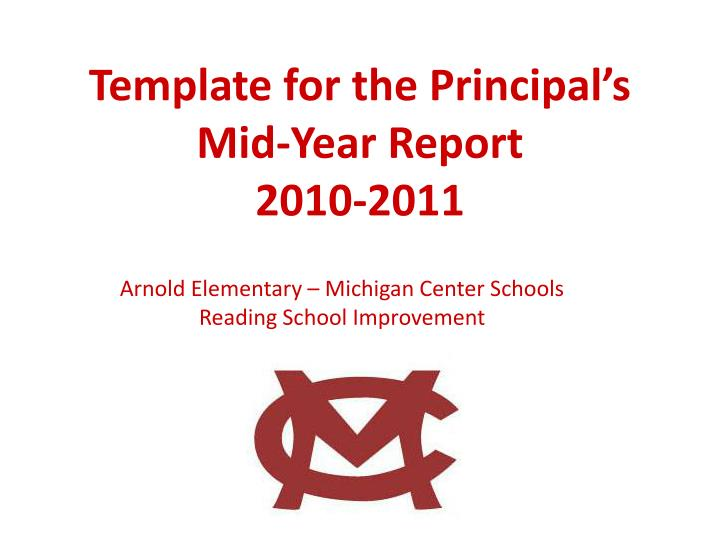 Template for the principal s mid year report 2010 2011
