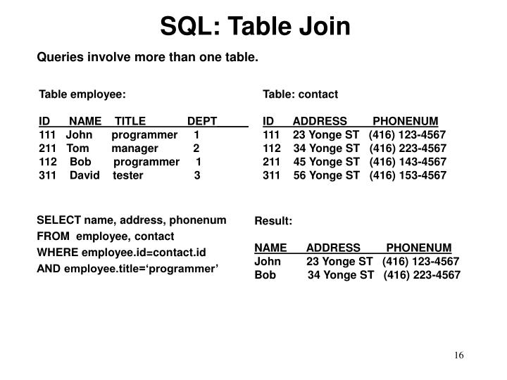 SQL: Table Join