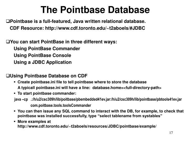 The Pointbase Database