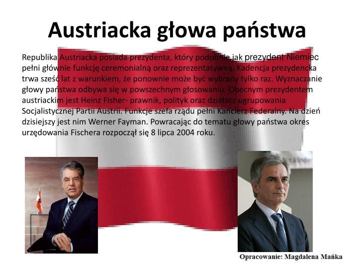 Austriacka głowa państwa