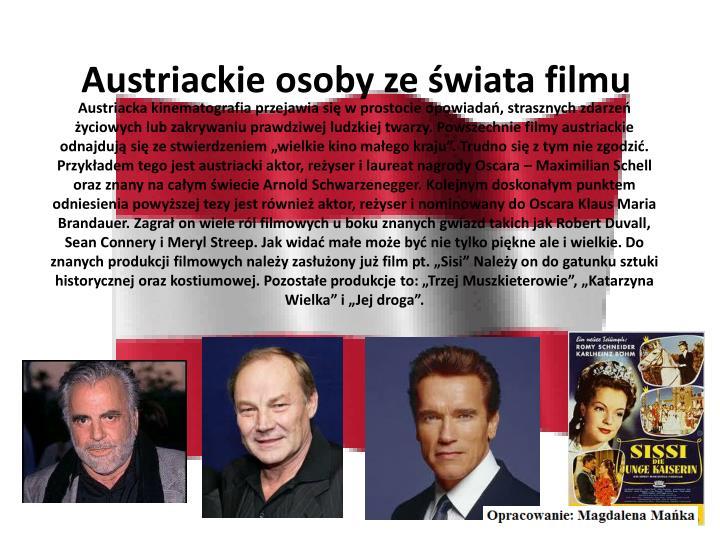 Austriackie osoby ze świata filmu