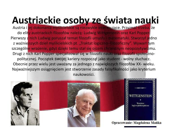 Austriackie osoby ze świata nauki