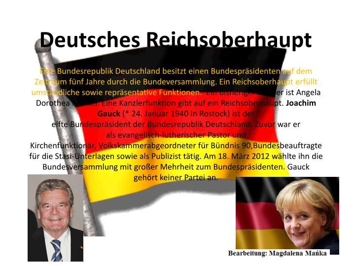Deutsches Reichsoberhaupt