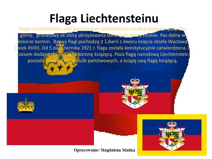 Flaga Liechtensteinu