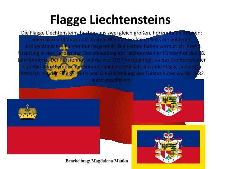 Flagge Liechtensteins