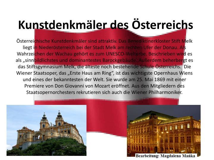Kunstdenkmäler des Österreichs