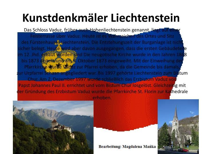 Kunstdenkmäler Liechtenstein
