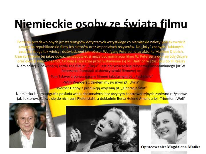 Niemieckie osoby ze świata filmu