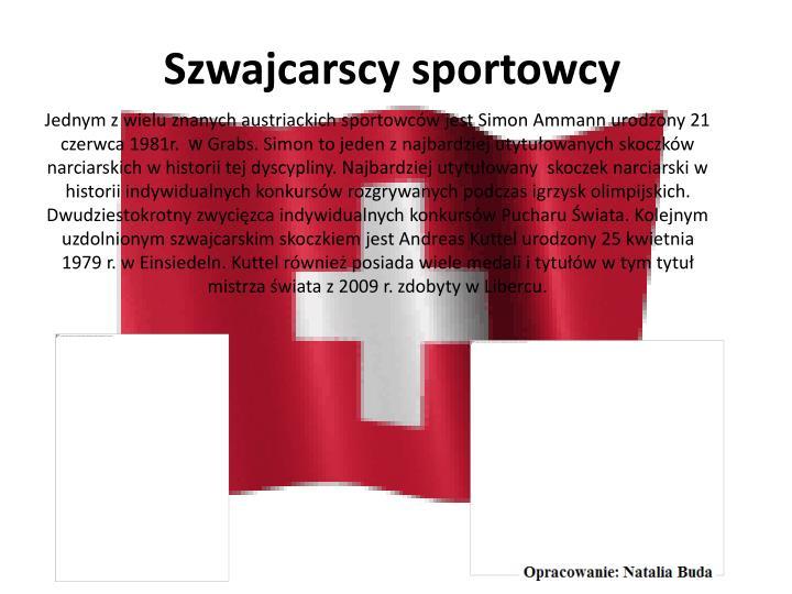 Szwajcarscy sportowcy