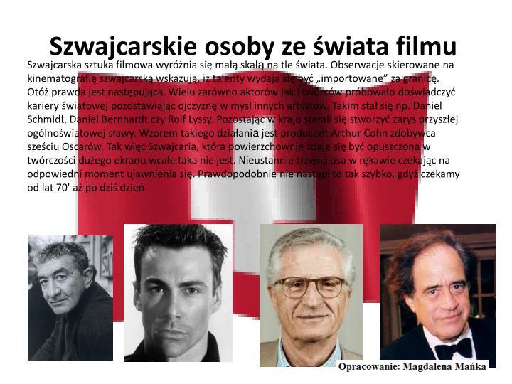 Szwajcarskie osoby ze świata filmu
