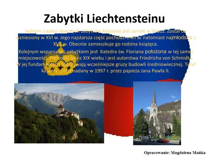 Zabytki Liechtensteinu