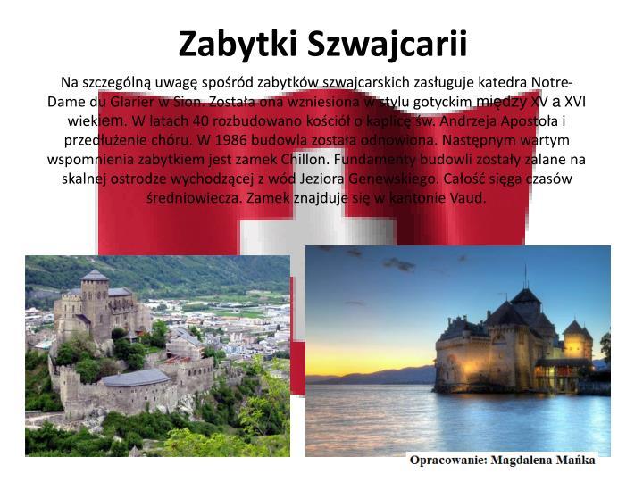 Zabytki Szwajcarii