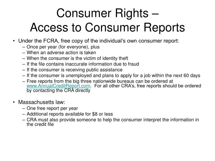 Consumer Rights –