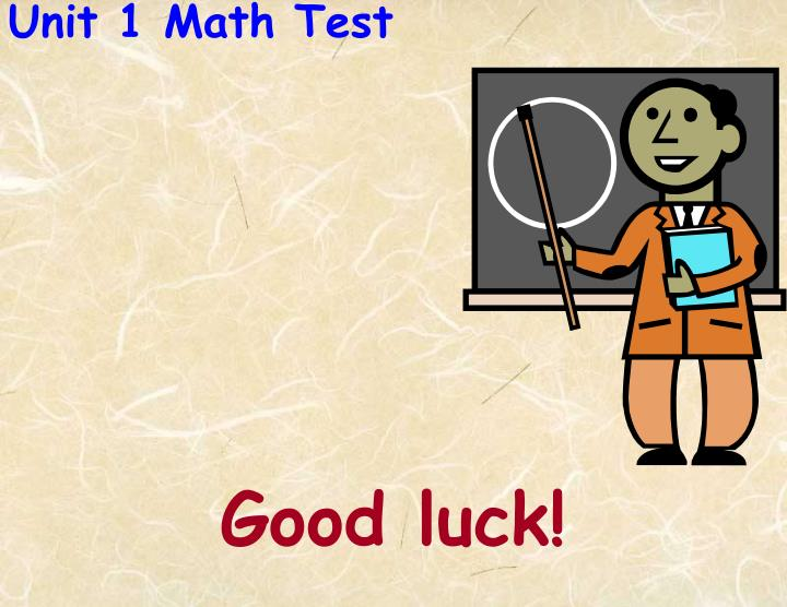 Unit 1 Math Test