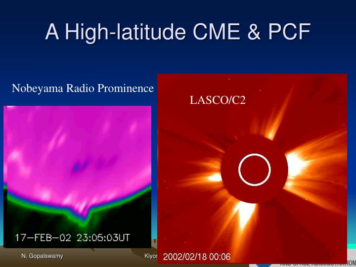 A High-latitude CME & PCF