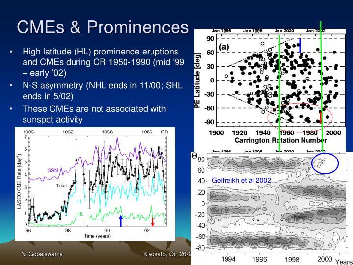CMEs & Prominences