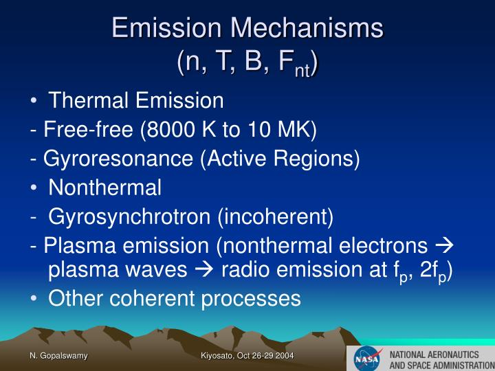Emission Mechanisms