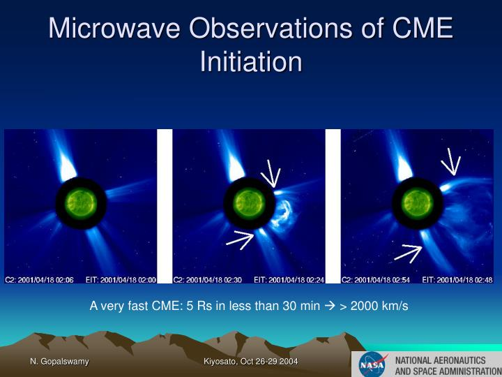 Microwave Observations of CME Initiation