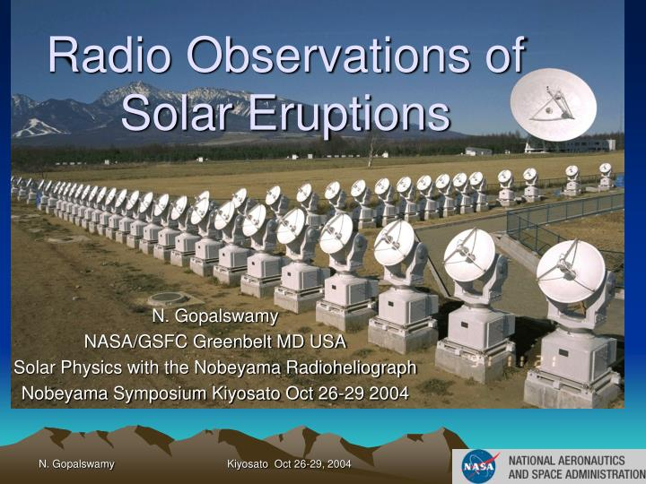Radio observations of solar eruptions