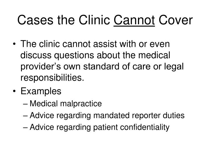Cases the Clinic