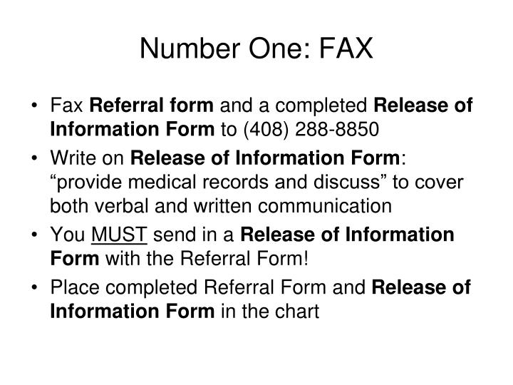 Number One: FAX