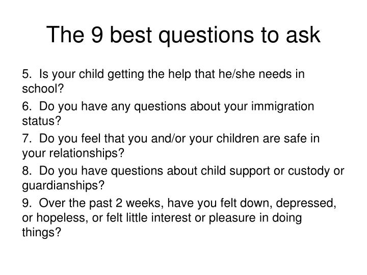 The 9 best questions to ask