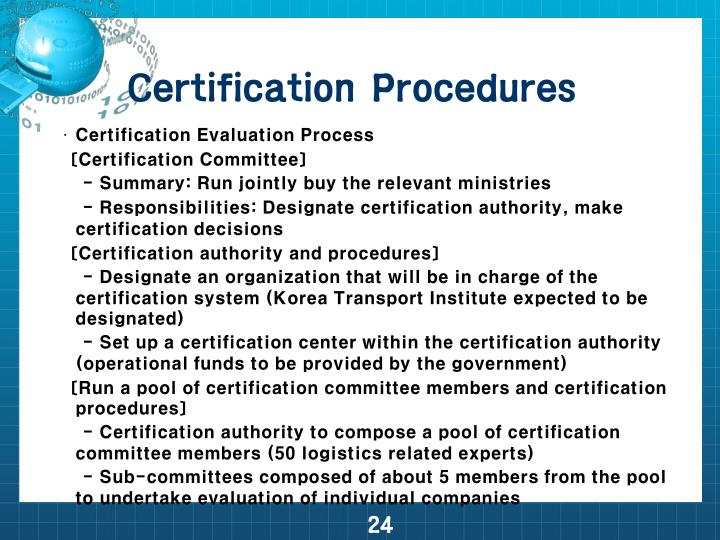 Certification Procedures