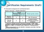 certification requirements draft16