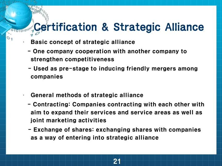 Certification & Strategic Alliance