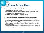 future action plans