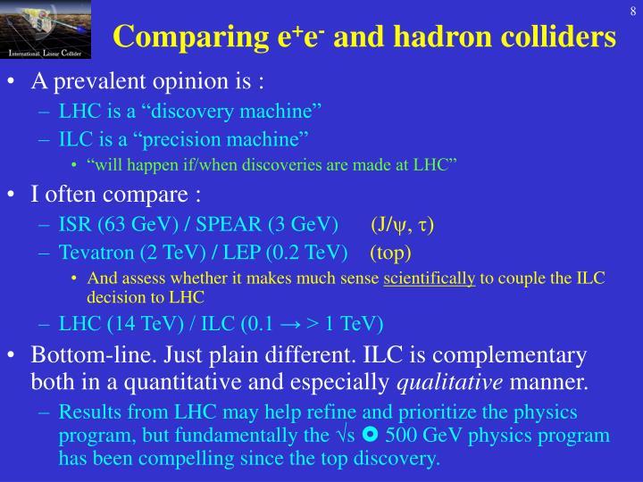 Comparing e
