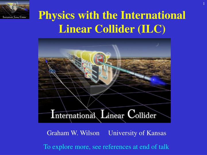 Physics with the International Linear Collider (ILC)
