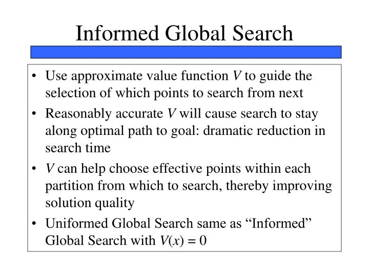 Informed Global Search