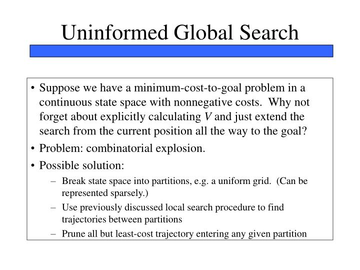 Uninformed Global Search