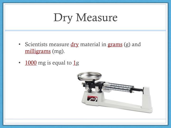 Dry Measure