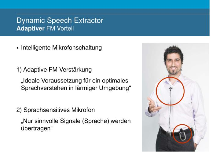 Dynamic Speech Extractor