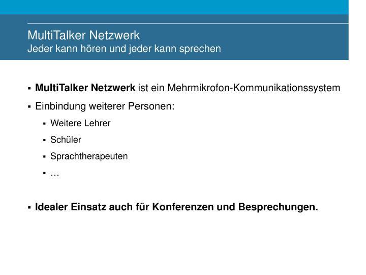 MultiTalker Netzwerk