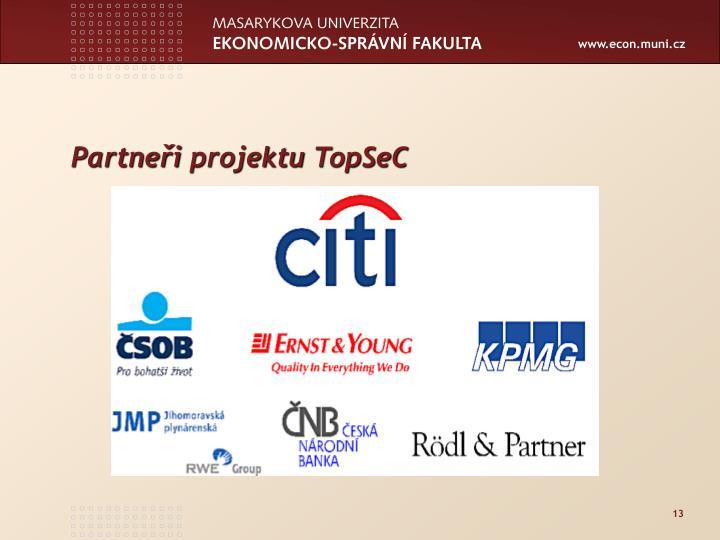 Partneři projektu TopSeC