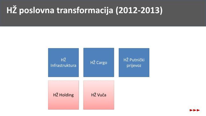 HŽ poslovna transformacija (2012-2013)