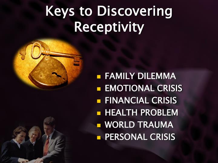 Keys to Discovering Receptivity