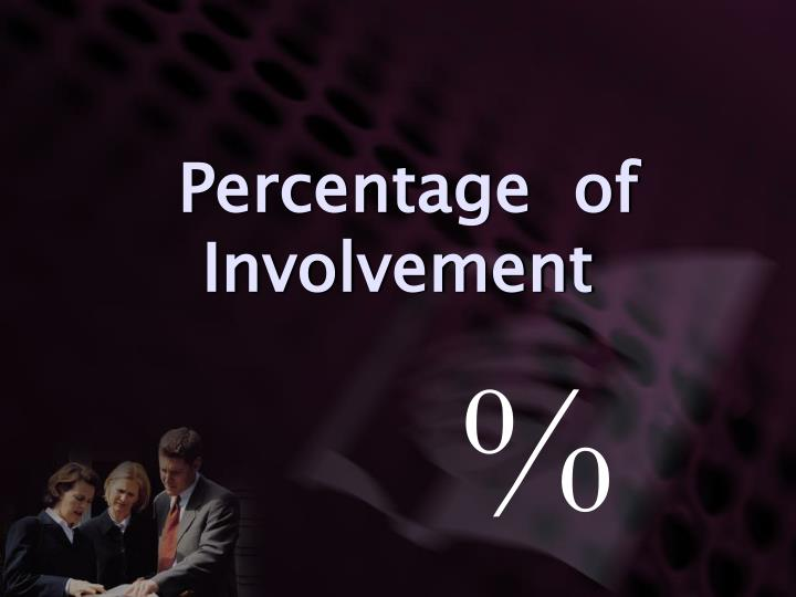 Percentage  of Involvement