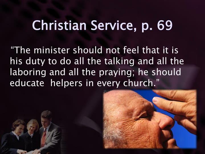 Christian Service, p. 69