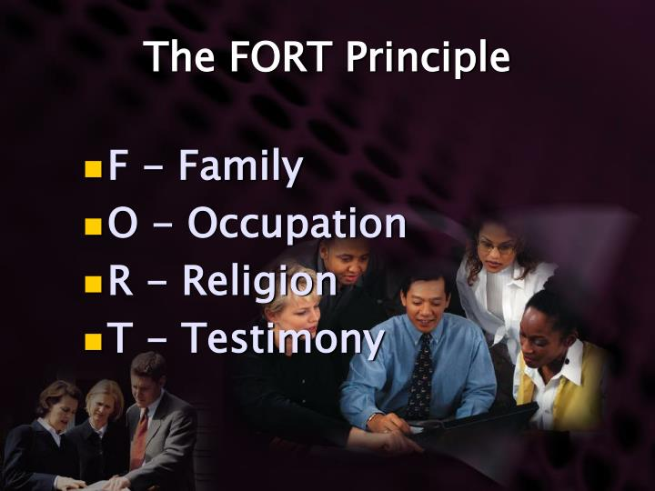 The FORT Principle